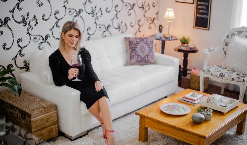 Fernanda Rosa em casa.
